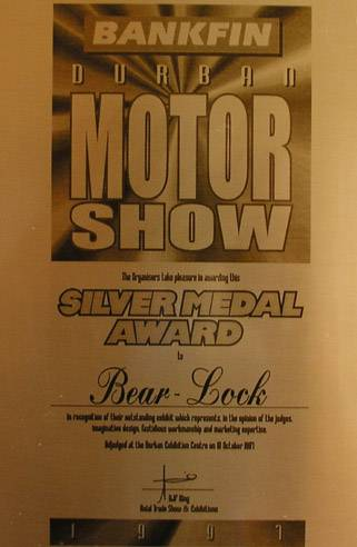 Silver Medal of Motor Show in Durban - Motor Show 1997
