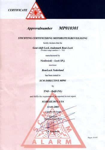 Certificate Netherlands